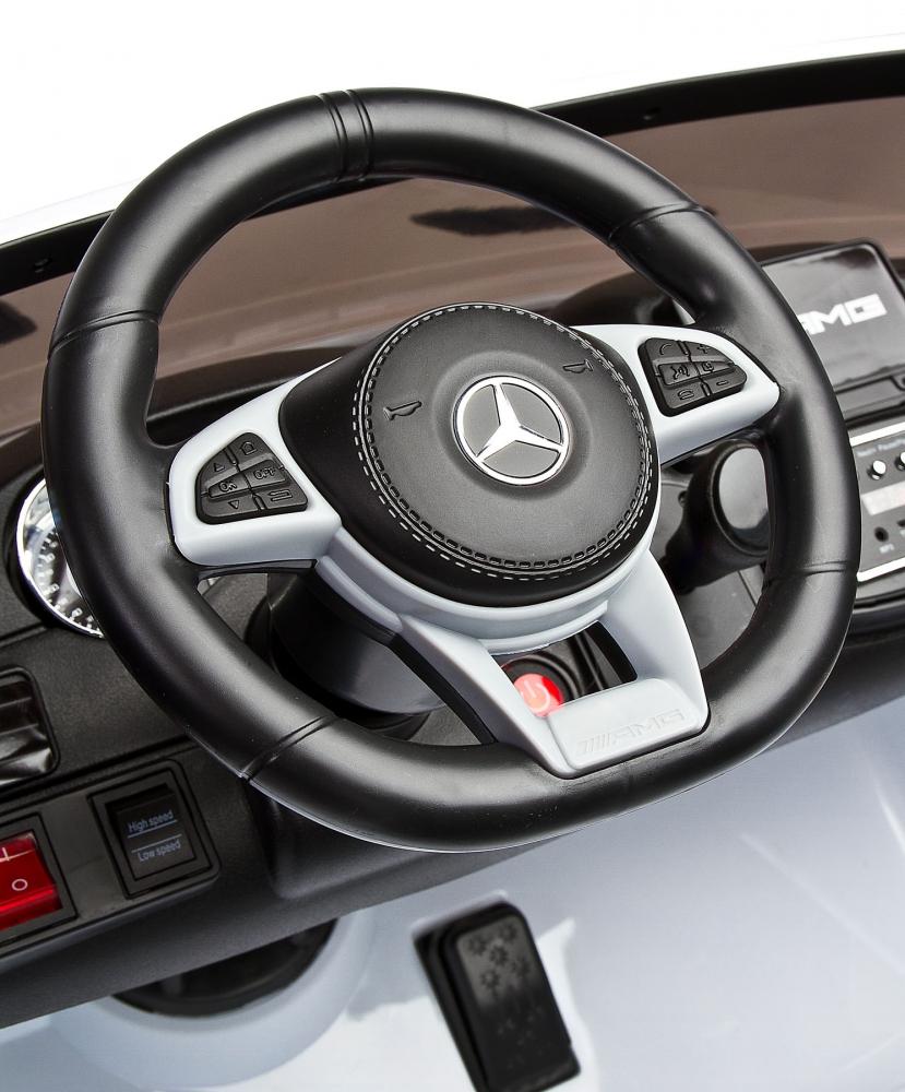 Masina electrica cu doua locuri Toyz Mercedes-Benz GLS63 12V alba - 6
