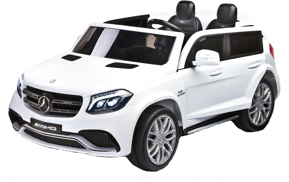 Masina electrica cu doua locuri Toyz Mercedes-Benz GLS63 12V alba - 7