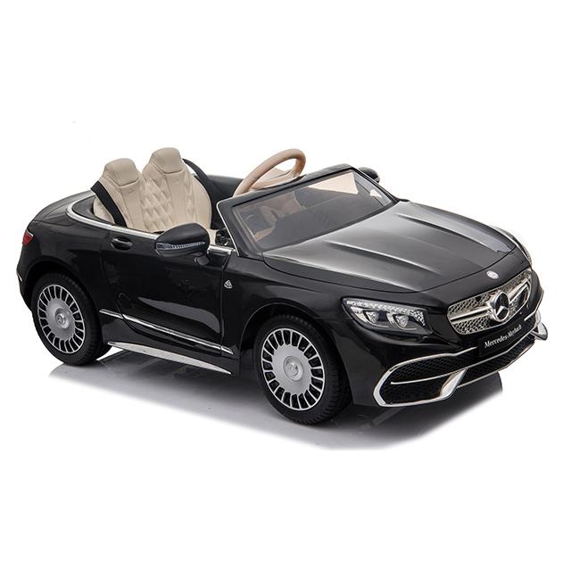 Masinuta electrica cu roti EVA si scaun din piele Mercedes Maybach S650 Cabriolet Black