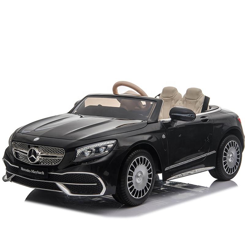 Masinuta electrica cu roti EVA si scaun din piele Mercedes Maybach S650 Cabriolet Black - 2