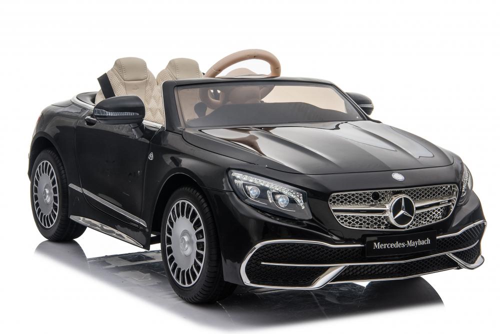 Masinuta electrica cu roti EVA si scaun din piele Mercedes Maybach S650 Cabriolet Black - 3