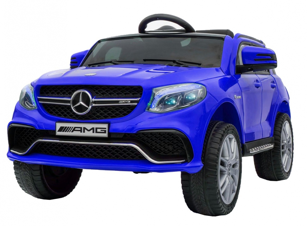 Masinuta electrica cu scaun din piele si roti EVA Mercedes Benz GLE63S AMG Blue