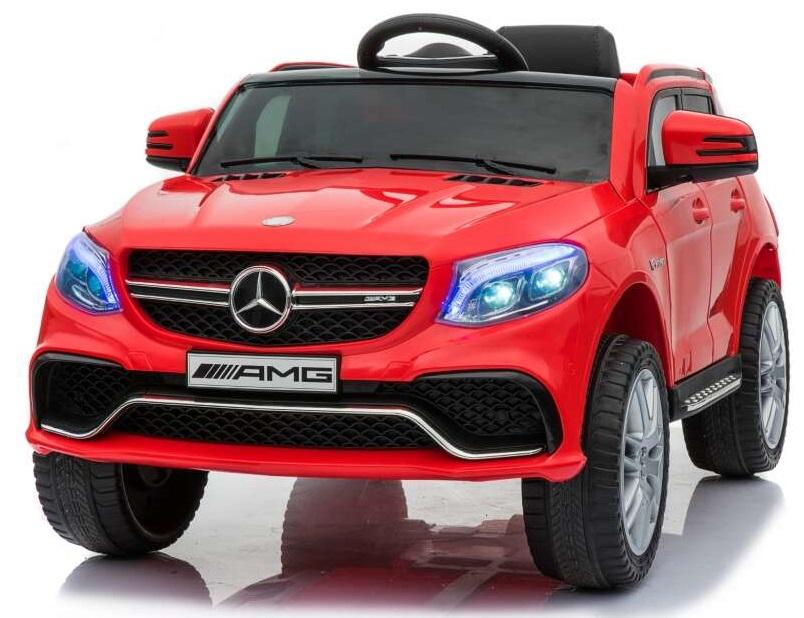 Masinuta electrica cu scaun din piele si roti EVA Mercedes Benz GLE63S AMG Red - 7
