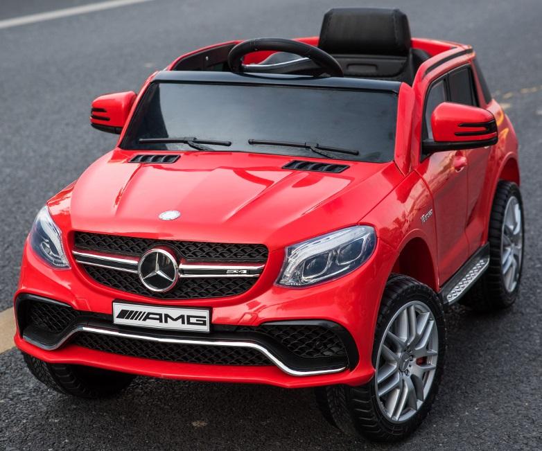 Masinuta electrica cu scaun din piele si roti EVA Mercedes Benz GLE63S AMG Red - 2