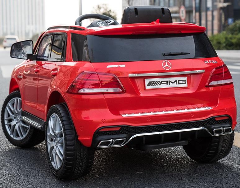 Masinuta electrica cu scaun din piele si roti EVA Mercedes Benz GLE63S AMG Red - 3