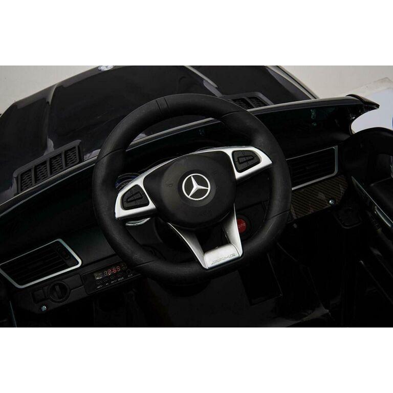 Masinuta electrica cu scaun din piele si roti EVA Mercedes Benz GLE63S AMG Red - 4
