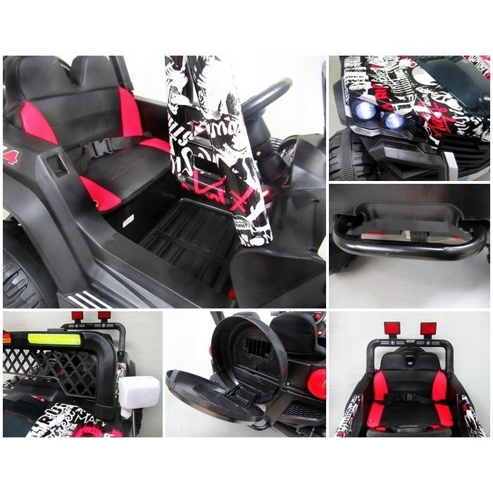 Masinuta electrica cu telecomanda 4 X 4 Buggy X7 R-Sport Alb - 3