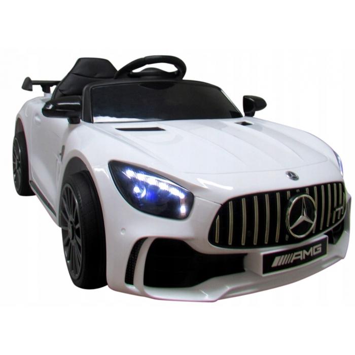 Masinuta electrica cu telecomanda Mercedes AMG GTR-S R-Sport Alb - 2