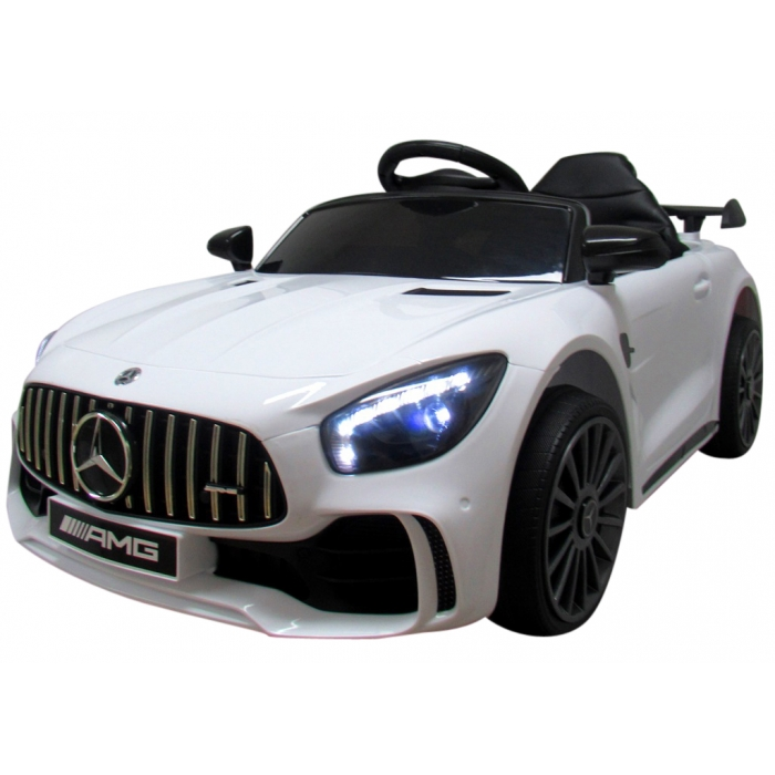 Masinuta electrica cu telecomanda Mercedes AMG GTR-S R-Sport Alb