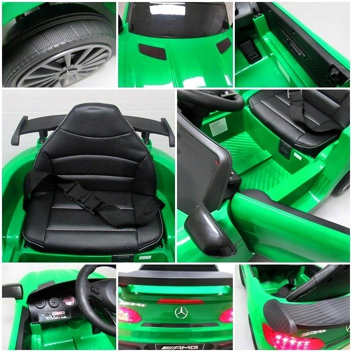 Masinuta electrica cu telecomanda Mercedes AMG GTR-S R-Sport Verde - 1