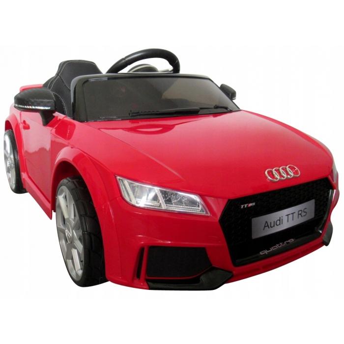 Masinuta electrica cu telecomanda roti Eva scaun piele Audi TT R-Sport Rosu - 3