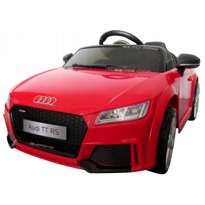 Masinuta electrica cu telecomanda roti Eva scaun piele Audi TT R-Sport Rosu