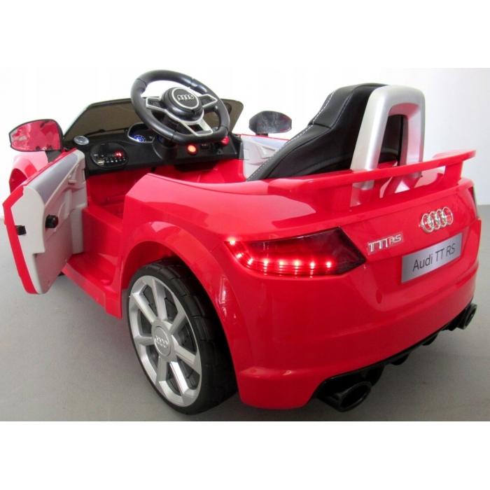 Masinuta electrica cu telecomanda roti Eva scaun piele Audi TT R-Sport Rosu - 1