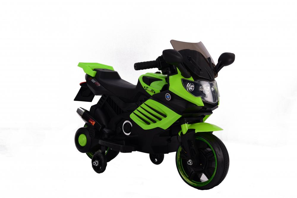 Motocicleta electrica 6V cu roti ajutatoare Nichiduta X-Race Green - 5