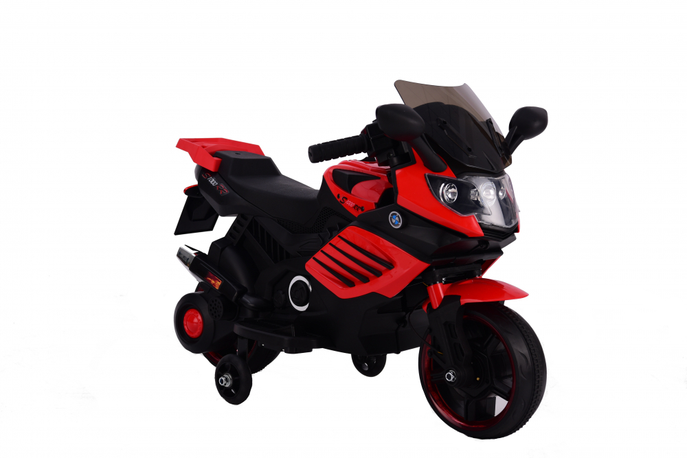 Motocicleta electrica 6V cu roti ajutatoare Nichiduta X-Race Red - 5