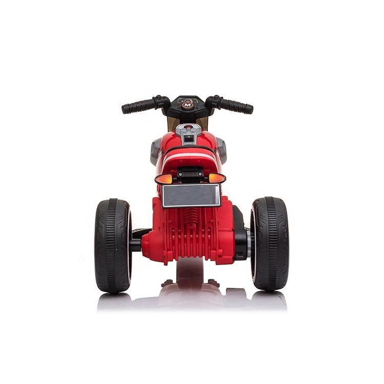 Motocicleta electrica cu scaun din piele si roti EVA Nichiduta Moto Red - 2