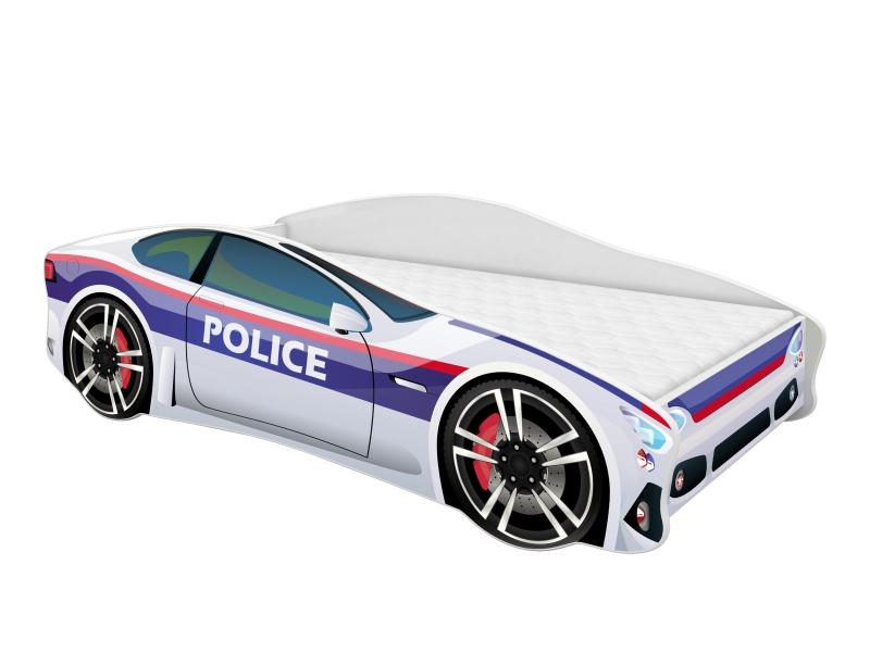 Pat tineret MyKids Car Police 160x80 cm