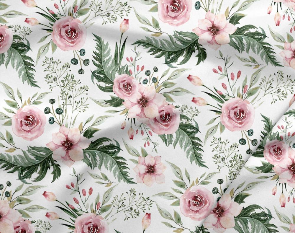 Paturica groasa nedetasabila model trandafiri si plus minky roz pal 100x140 cm