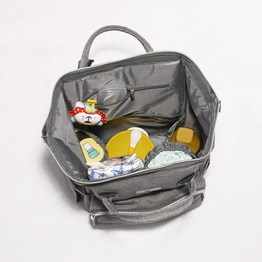 Rucsac accesorii bebelusi Tina multiple compartimente Beige