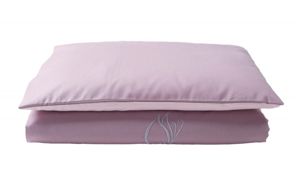 Set lenjerie din bumbac cu protectie laterala pentru pat bebelusi Butterfly Pink 120 x 60 cm
