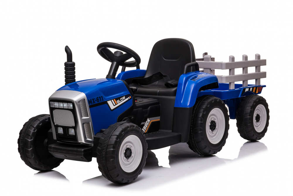 Tractor electric cu remorca Moni Trailer Blue - 4