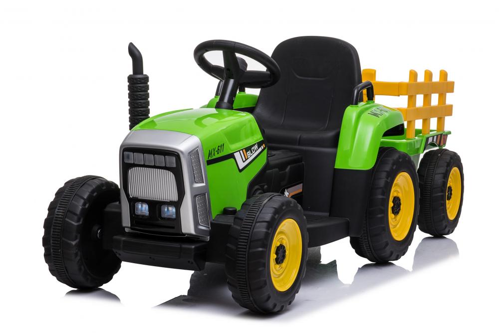 Tractor electric cu remorca Moni Trailer Green - 4