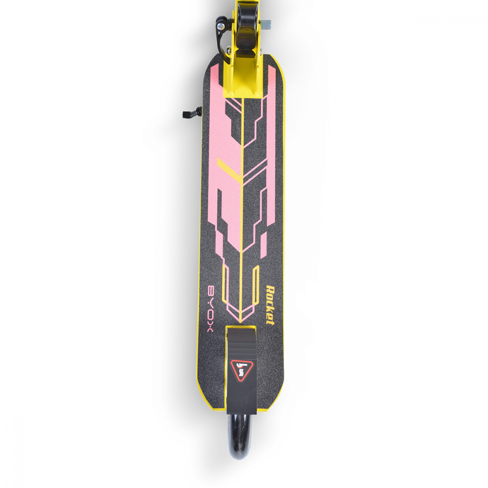 Trotineta Byox pliabila cu cadru de aluminiu Rocket PinkYellow