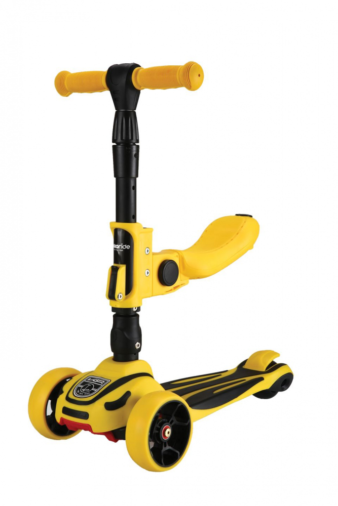 Trotineta evolutiva cu lumini LED Roadster 3in1 Yellow 2020