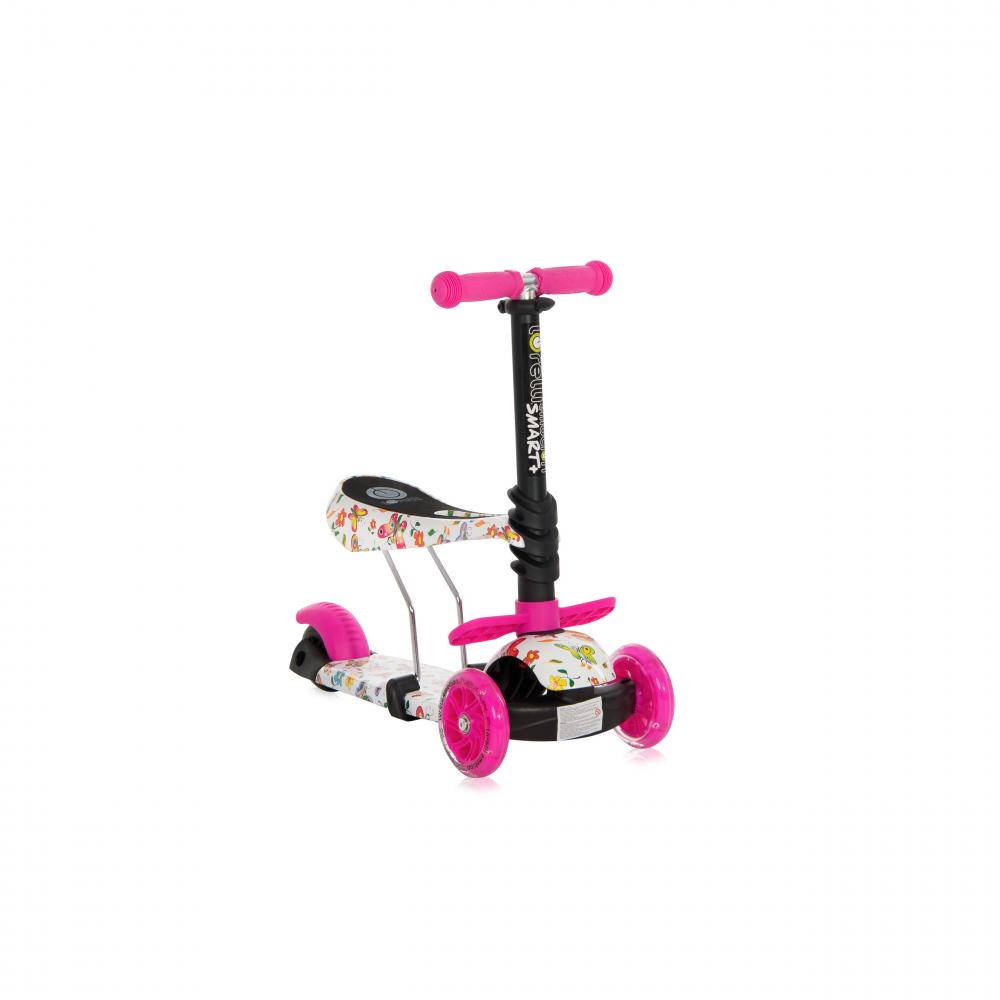 Trotineta pentru copii Smart Plus Pink Butterfly - 1