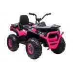 Atv electric Nichiduta Desert Pink cu roti din cauciuc si pornire la cheie 12V