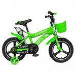 Bicicleta copii 3-5 ani 14 inch din magneziu roti ajutatoare cu Led Carpat Kids CSC14/00A verde alb
