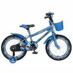 Bicicleta copii 4-6 ani 16 inch roti ajutatoare Rich Baby CSR16/03A albastru cu negru