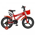 Bicicleta copii 4-6 ani 16 inch din magneziu roti ajutatoare cu Led Carpat Kids CSC16/00A rosu alb