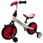 Bicicleta cu pedale si roti ajutatoare R-Sport P1 roz