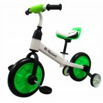 Bicicleta cu pedale si roti ajutatoare R-Sport P1 verde