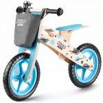 Bicicleta de lemn fara pedale Ricokids RC-612 Albastru