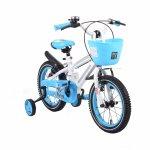 Bicicleta pentru copii cu cadru iluminat Moni Flash Albastru 14 inch