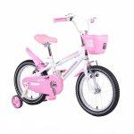 Bicicleta pentru copii cu cadru iluminat Moni Flash Pink 16 inch