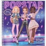 Carte de colorat cu stickere Carte de colorat Top Model Make-up Studio Depesche