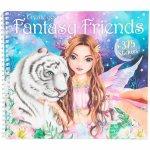 Carte de colorat cu stickere Create Your Fantasy Friends Depesche