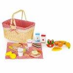 Cosulet din lemn XXL cu accesorii pentru picnic Ecotoys HM015250