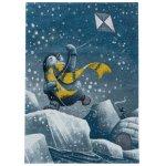 Covor copii & tineret Hopkinsville albastru/alb/galben 80x150