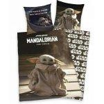 Lenjerie de pat Star Wars Mandalorian pentru copii din bumbac reversibila 2 piese