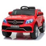 Masinuta electrica cu scaun din piele si roti EVA Mercedes Benz GLE63S AMG Red