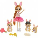 Papusa Enchantimals by Mattel Brystal Bunny Family cu 3 figurine si accesorii