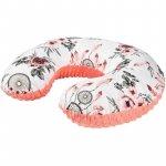 Perna de alaptat Minky 140 cm Infantilo alb roses/portocaliu
