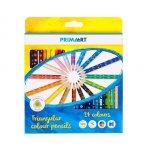 Set 24 creioane colorate triangulare Prima Art