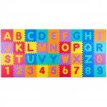 Salteluta de joaca 120 x 270 cm cu litere si cifre Ricokids 7487 Multicolora
