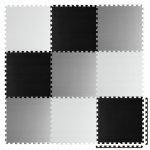 Salteluta de joaca 180 x 180 cm Ricokids 7494 Gri Negru Alb