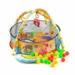 Salteluta de joaca cu bile Ecotoys 518A-08 Multicolora
